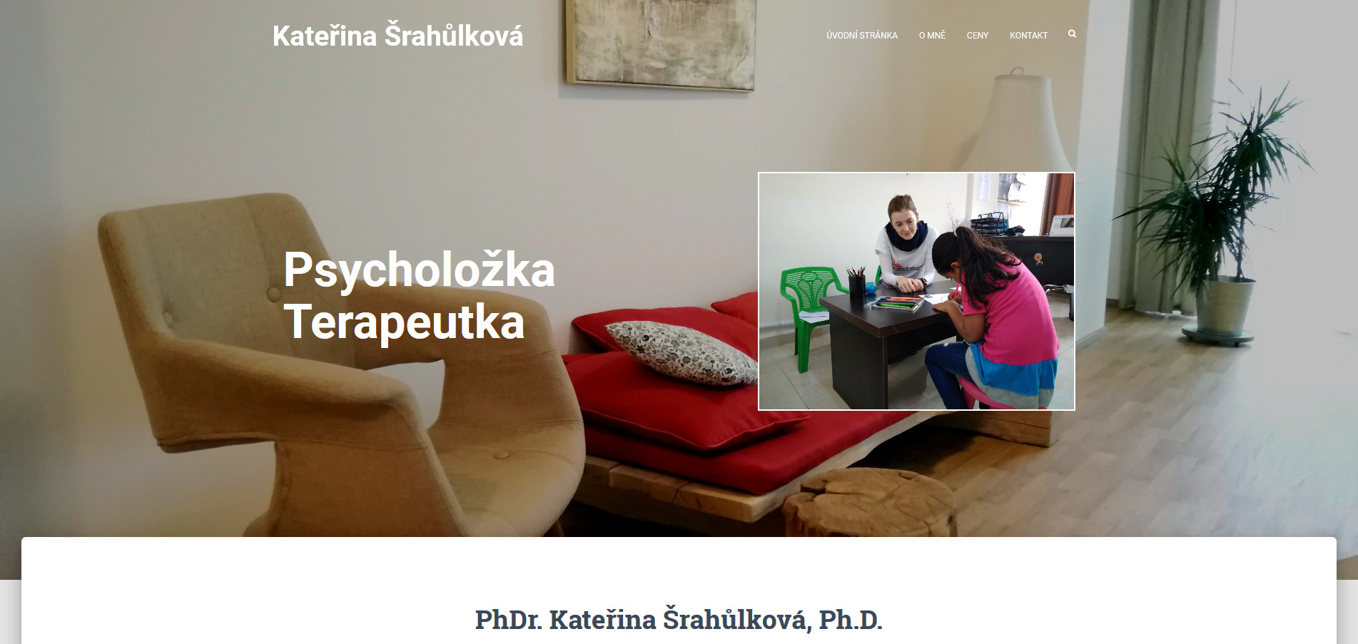 Psycholožka a terapeutka Kateřina Šrahůlková