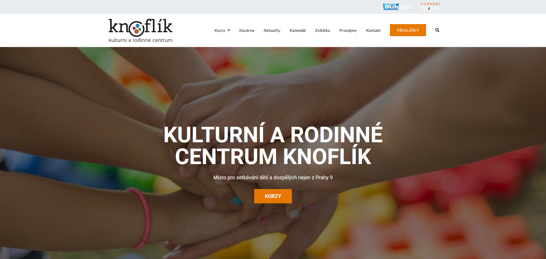 Webová stránka Kulturní a rodinné centrum Knoflík